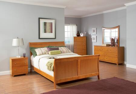 Atlantic Furniture BORMFAWFL Bordeaux Series  Bed
