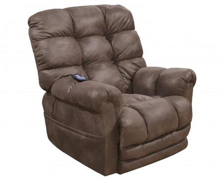 """Catnapper Oliver Collection 40"""" Power Lift Recliner with Dual Motor, Extended Ottoman, Dual Motor Design, Steel Seat Box and Soft Printed Polyester Faux Leather Fabric Upholstery"""