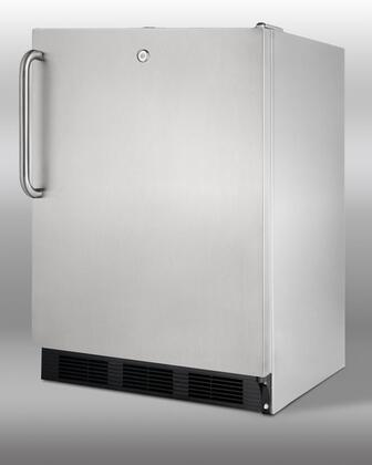 Summit SCR600LOSBISDLHD  Built In Counter Depth Compact Refrigerator with 5.5 cu. ft. Capacity,
