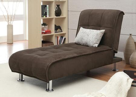 Coaster 300277 Sofa Beds and Futons Series Transitional Fabric Metal Frame Chaise Lounge