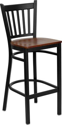 "Flash Furniture HERCULES Series XU-DG-6R6B-VRT-BAR-XXW-GG 28.75"" Heavy Duty Vertical Back Metal Restaurant Bar Stool with Wood Seat, 18 Gauge Steel Frame , Foot Rest Rung, and Plastic Floor Glides"