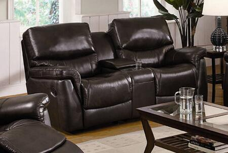 Coaster 602932 Luna Series Leather  with Wood Frame Loveseat