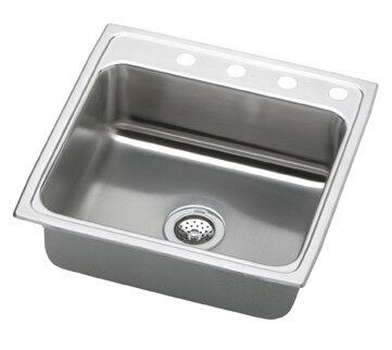 "Elkay LR2222 22"" Top Mount Self-Rim Single Bowl 18-Gauge Stainless Steel Sink"
