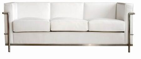Wholesale Interiors 610SOFAWHITE Le Corbusier Series  Sofa