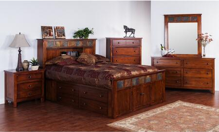 Sunny Designs 2334DCSKBDM2NC Santa Fe King Bedroom Sets