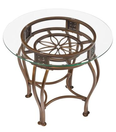 Hillsdale Furniture 40384OTE Scottsdale Series Transitional Metal Round None Drawers End Table