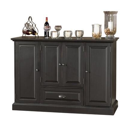 """American Heritage Carlotta Series 600055XX 60"""" Home Bar with Two Pull-Out Wine Storage Racks, Easy Glide Storage Drawer, Glass Stemware Holder, Bottle Opener, and Gentle-touch Magnetic Catches"""