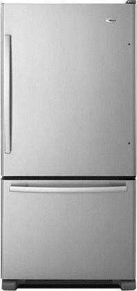 """Amana ABB2224BRM 33""""  Bottom Freezer Refrigerator with 22.1 cu. ft. Capacity in Stainless Steel"""