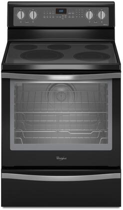 "Whirlpool WFE715H0 30"" Freestanding Electric Range with 6.4 cu. ft. Capacity, 5 Cooking Elements, AquaLift Self-Clean Technology, Convection, Rapid Preheat, Warming Drawer, and Hidden Bake"