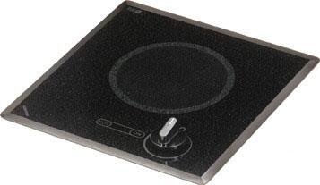 """Kenyon B415xx 12"""" Mediterranean Series Electric Cooktop with Single Burners, Durable Ceramic Glass, Heat-Limiting Surface and Push-to-Turn Knob Control, in Black"""