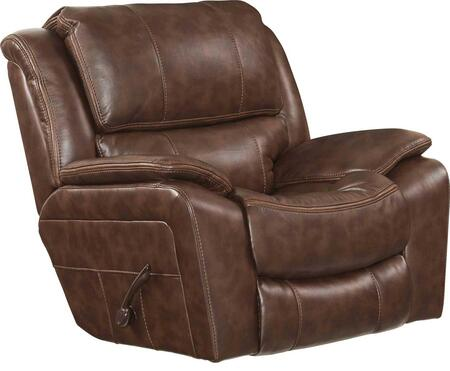 "Catnapper Beckett Collection 44"" Rocker Recliner with Auto Seat Design, Contrast Welt Stitch, Coil Seating Comfor-Gel and Polyurethane Fabric Upholstery"
