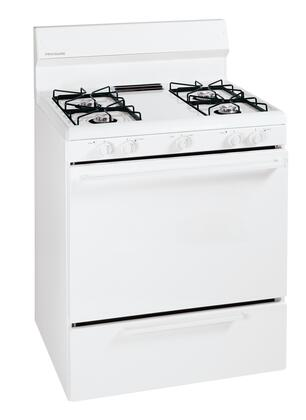 Frigidaire FFGF3000MW  Gas Freestanding Range with Open Burner Cooktop, 4.2 cu. ft. Primary Oven Capacity, Broiler in White