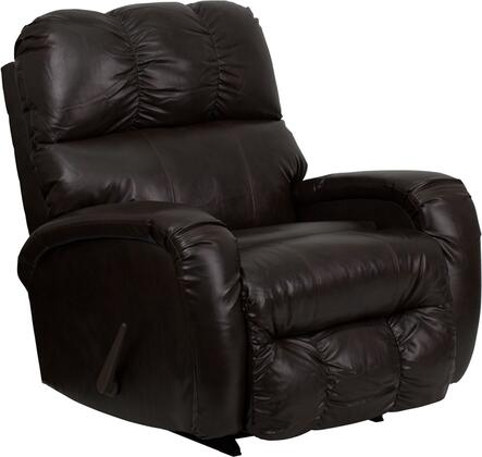 Flash Furniture AM98509070GG Contemporary Bentley Series Contemporary Bonded Leather Wood Frame Rocking Recliners