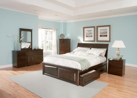 Atlantic Furniture BORRPAWKG Bordeaux Series  Bed