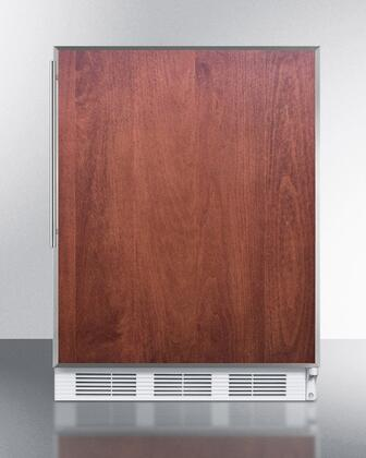 """Summit FF61FRADA 24""""  Compact Refrigerator with 5.5 cu.ft. Capacity"""