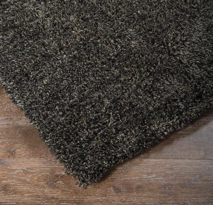 """Milo Italia Mathew RG418332TM R40034 """" x """" Size Rug with Solid Shag Design, Machine-Tufted Made, 20-25mm Pile Height, Wool Material and Backed with Cotton in Black Color"""