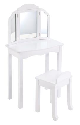 Guidecraft G87X04 Expressions Vanity, with Three Sided Mirror & Stool