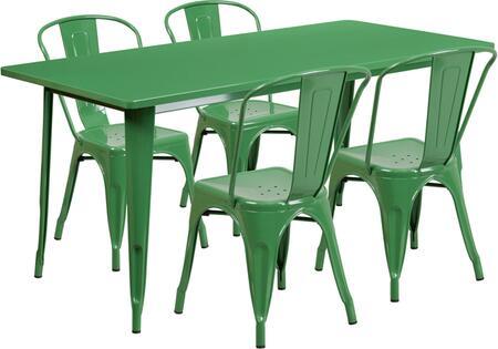 Flash Furniture ETCT005430GNGG Rectangular Shape Patio Sets