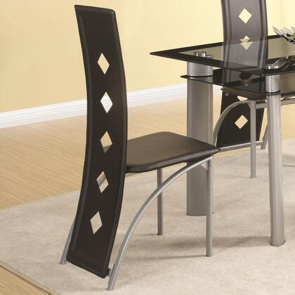 Coaster 121052 Fontana Series Contemporary Vinyl Metal Frame Dining Room Chair