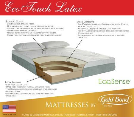 "Gold Bond 936 EcoTouch EcoSense Latex Collection 10"" High X Size Bamboo Mattress"