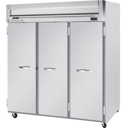 Beverage-Air HFPS3-5 Horizon Series Three Section [Solid Door] Reach-In Freezer, 74 cu.ft. Capacity, Stainless Steel Exterior and Interior