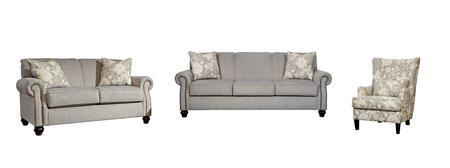 Milo Italia MI2353SLACOCEA Kiersten Living Room Sets