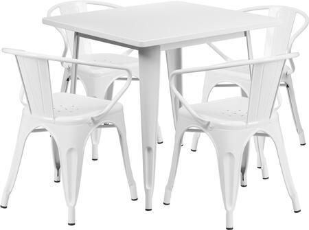 Flash Furniture ETCT002470WHGG Square Shape Patio Sets