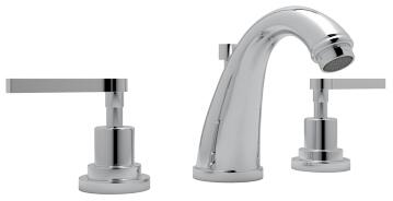 Rohl A1208LM Transitional Series Avanti Deck Mounted Lavatory Faucet with 1.2 GPM Flow Rate, Fixed Spout and Metal Levers in