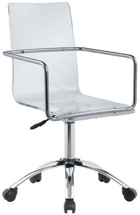 """Coaster Office Chairs Collection 23"""" Office Chair with Casters, Chrome Handles, Swivel Mechanism, Steel Base and Acrylic Material in"""
