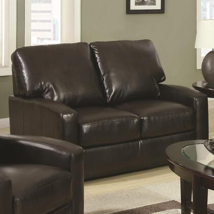 Coaster 504262 Kelsey Series Bonded Leather  with Wood Frame Loveseat