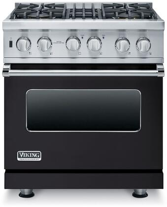 "Viking VDSC5304BXXLP 30"" Professional 5 Series Liquid Propane Dual Fuel Range with 4 Sealed Burners, Self-Clean Convection Oven and Surespark Ignition System, in"