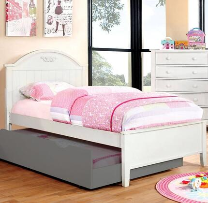 Furniture of America CM7942WHTBED Medina Series  Twin Size Bed