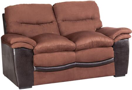 Glory Furniture G195L Bonded Leather Stationary Loveseat