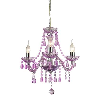 "Sterling Theatre Collection 17.5"" 3-Light Mini Chandelier with Metal Chain, Glass and Acrylic Material in Chrome Finish"