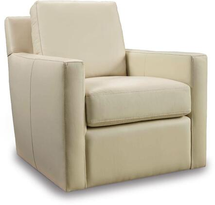 Milestone Cream Swivel Club Chair