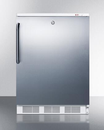 "Summit VT65MLSSTB24"" Freestanding Upright Counter Depth Freezer"
