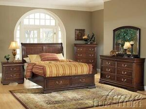 Acme Furniture 19447EK Hennessy Series  King Size Sleigh Bed