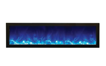 Amantii BI60SLIM Panorama Series Wall Mountable Electric Fireplace