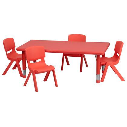 Flash Furniture YUYCX00132RECTTBLREDRGG