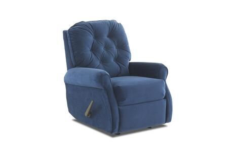 """Klaussner Virgo Collection 46703H-RRC- 35"""" Rocking Reclining Chair with Rolled Arms, Welted Trim Detail and Button Tufted Back Cushion in"""