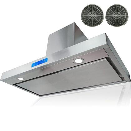 """AKDY AWR27PS230 30"""" Wall Mount Range Hood with 760 CFM Motor, 3 Speed Fan Levels, Ultra Quiet Operation, Touch Control Panel, LED Lighting and Dishwasher Safe Filters in Stainless Steel"""