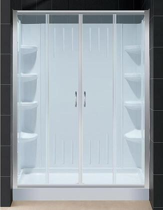"DreamLine DL-6111 Visions Sliding Shower Door With 60"" x 72"" Glass, 36"" x 60"" Shower Base, Two Stationary Side Glass Panels &"