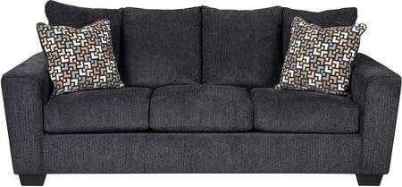 """Milo Italia Carley MI-7919-31-TM 88"""" Stationary Fabric Sofa with Flared Track Arms, Loose Seat Cushions and Pillows Included"""