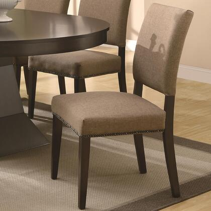 Coaster 103572 Myrtle Series Casual Fabric Wood Frame Dining Room Chair