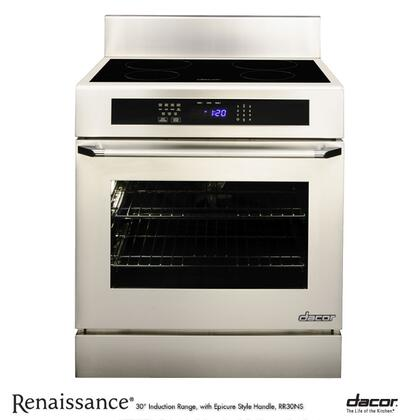 "Dacor RR30NIS 30"" Slide-in Electric Range with Smoothtop Cooktop, 4.8 cu. ft. Primary Oven Capacity, in Stainless Steel"