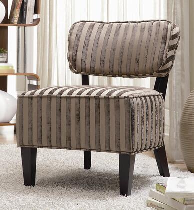 Coaster 900422 Armless Fabric Wood Frame Accent Chair