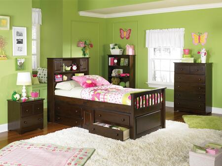 "Atlantic Furniture CAPTAINSFDSCFULLAW Captain""s Series  Full Size Captains Bed"