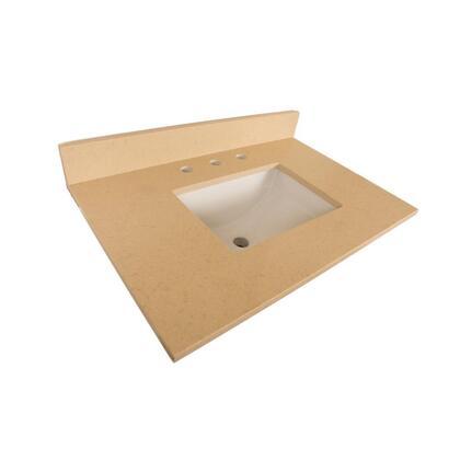 "Bellaterra Home 7615TOP 30"" Quartz Counter Top with Rectanglar Sink"