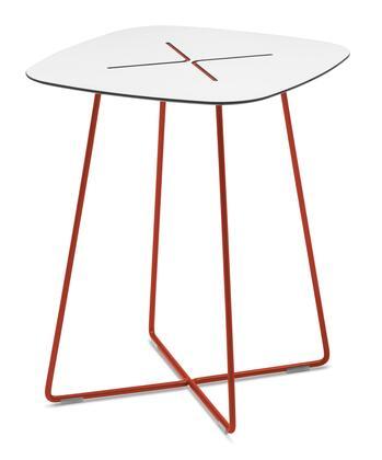 Domitalia CROSSC06FRTHBI Red Contemporary Table