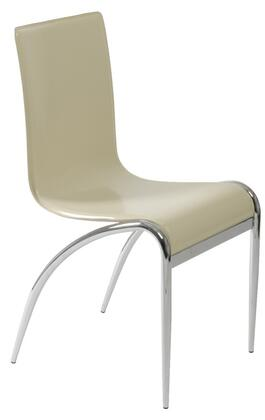 Euro Style 03184 Grace Series Leather Metal Frame Dining Room Chair